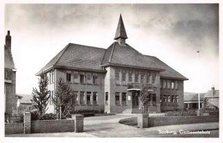 Ansichtkaart Souburg Gemeentehuis 1950 Zeeland HC17681
