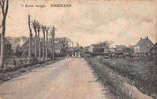 Ansichtkaart Dirksland 't Korte Weegje 1916 Goeree-Overflakkee HC17692