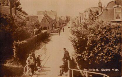 Ansichtkaart Stellendam Nieuwe Weg Fotokaart Goeree-Overflakkee HC17720