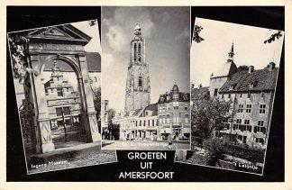 Ansichtkaart Amersfoort Groeten uit 1960 Ingang Museum O.L. Vrouwetoren 't Latijntje HC17752