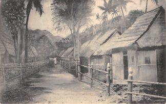 Ansichtkaart Nederlands-Indië Een christelijk dorp op Boeroe Indonesië Indonesia Azië HC17841