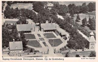 Ansichtkaart Rhenen Ingang Ouwehands Dierenpark Op de Grebbeberg 1948 KLM Luchtfoto no. 21787 Zoo Dierentuin HC17849