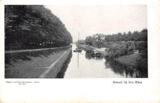 Ansichtkaart Den Haag Kanaal met binnenvaart schepen Scheepvaart HC17856