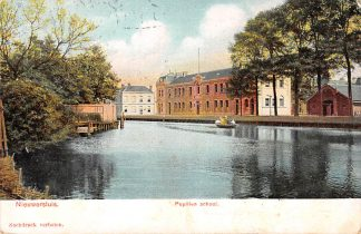 Ansichtkaart Nieuwersluis Pupillen school Militair 1906 HC17861