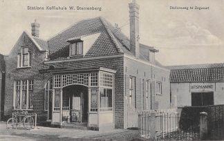 Ansichtkaart Zoetermeer Zegwaart Stationsweg Stations Koffiehuis W. Sterrenberg Spoorwegen Station 1912 HC17864