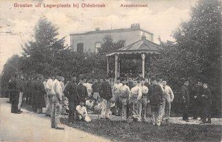Ansichtkaart Oldebroek Avondconcert Militair 1911 Veluwe HC17865