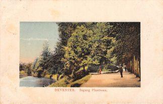 Ansichtkaart Deventer Ingang Plantsoen 1913 HC17868