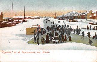 Ansichtkaart Den Helder IJsgezicht op de Binnenhaven Winter 1906 Schaatsen HC17869