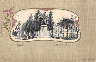 Ansichtkaart België Mechelen Malines Statue Van Beneden 1902 Vivat No. 59 Europa HC17890