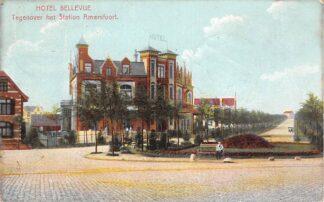 Ansichtkaart Amersfoort Hotel Bellevue tegenover het Station 1911 HC17892