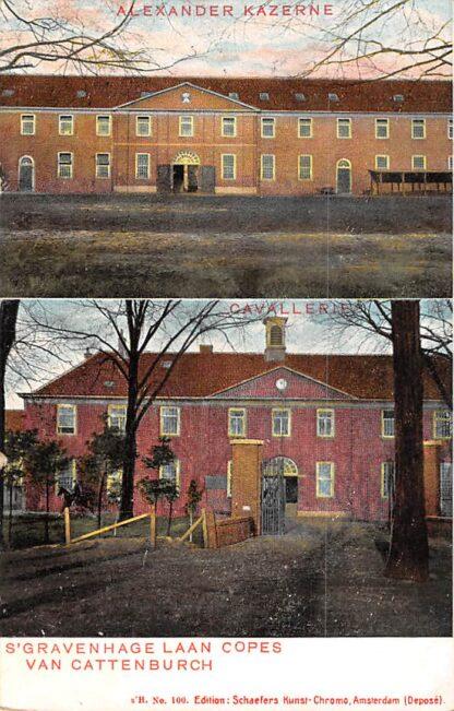 Ansichtkaart 's-Gravenhage Alexander Kazerne Laan Copes van Cattenburch 1906 Militair HC17909