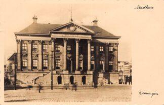 Ansichtkaart Groningen Stadhuis 1938 HC17953