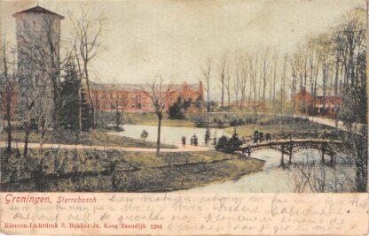 Ansichtkaart Groningen Sterrebosch met Watertoren 1904 HC17954