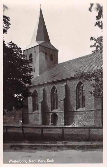 Ansichtkaart Westerbork Ned. Hervormde Kerk 1948 HC17962