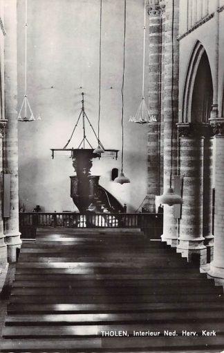 Ansichtkaart Tholen Interieur Ned. Hervormde Kerk HC17978