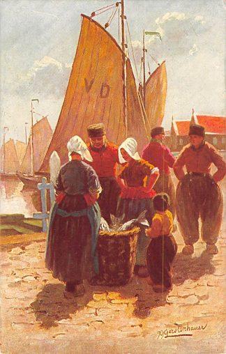 Ansichtkaart Volendam Fantasie Illustrator Gerstenhauer Klederdracht HC18002