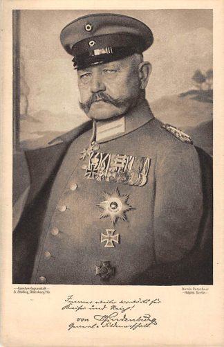 Ansichtkaart Duitsland Von Hindenburg Militair WO1 1914-1918 Deutschland Europa HC18006