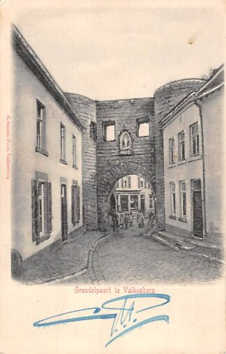 Ansichtkaart Valkenburg (LB) Prachtige reliëfkaart Grendelpoort HC18007