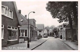 Ansichtkaart Den Ham (OV) Grotestraat 1950 HC18034