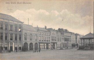 Ansichtkaart Goes Groote Markt (Westzijde) 1916 HC18053