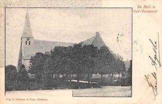 Ansichtkaart Oud-Vossemeer De Kerk Tholen Kleinrondstempel 1901 HC18056