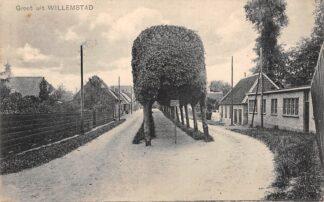 Ansichtkaart Willemstad Groet uit 1922 HC18061