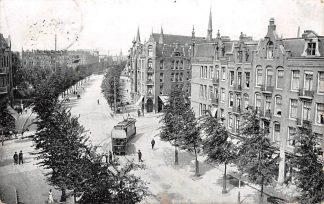 Ansichtkaart Amsterdam Bilderdijkstraat b.d. Clerqstraat Tram 64 HC18069