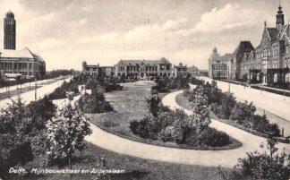 Ansichtkaart Delft Mijnbouwstraat en Julianalaan 1959 Kerk ? HC18075