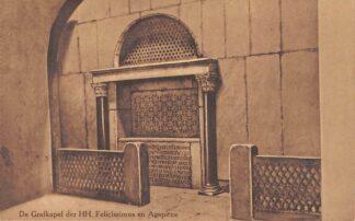 Ansichtkaart Valkenburg (LB) Romeinsche Katakomben De Grafkapel der HH. Felicissimus en Agapitus Grot HC18116