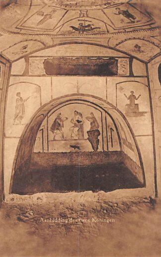 Ansichtkaart Valkenburg (LB) Romeinsche Katakomben Aanbidding der twee Koningen Grot HC18119