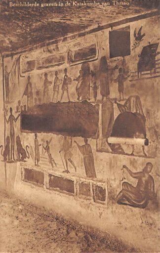 Ansichtkaart Valkenburg (LB) Romeinsche Katakomben Beschilderde graven in de Katakombe van Thraso Grot HC18120