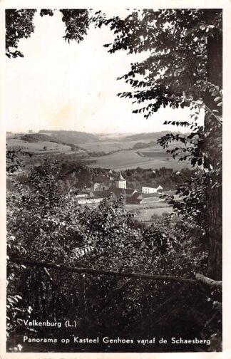Ansichtkaart Valkenburg (LB) Panorama op Kasteel Genhoes vanaf de Schaesberg 1956 HC18161