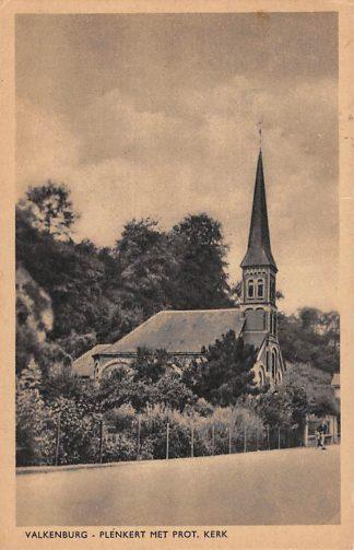Ansichtkaart Valkenburg (LB) Plenkert met Prot. Kerk 1947 HC18172