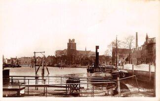 Ansichtkaart Dordrecht Kalkhaven Sleepboot Belgique uit Antwerpen Scheepvaart Schepen HC18178