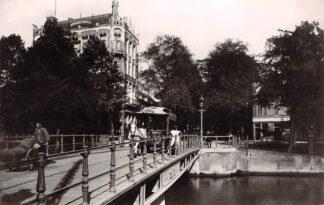 Ansichtkaart Zo was Dordrecht Johan de Wittbrug omstreeks 1910 met paardentram Tram HC18198