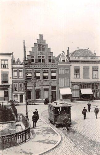Ansichtkaart Zo was Dordrecht Visbrug - Groenmarkt omstreeks 1910 Paardentram Tram HC18202