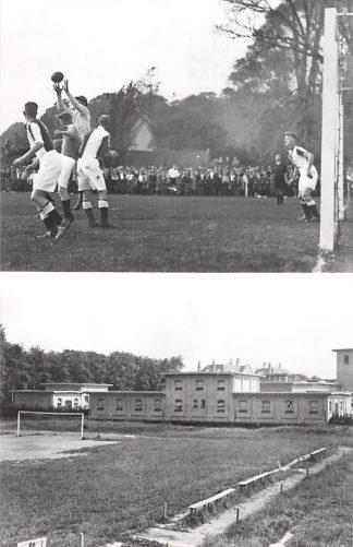 Ansichtkaart Zo was Dordrecht D.F.C.-terrein richting Boonenpad - Markettenweg 1934 en 1907 Voetbal Sport HC18203