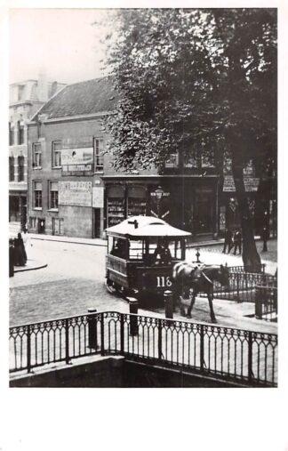 Ansichtkaart Zo was Dordrecht Visbrug hoek Voorstraat - Visstraat omstreeks 1895 Paardentram Tram HC18204