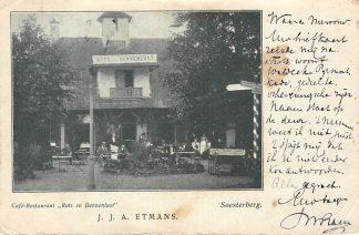 Ansichtkaart Soesterberg Reclame Café Restaurant Rots en Duinlust J.J.A. Etmans 1901 HC18235