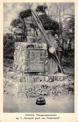 Ansichtkaart Vaals Vlieger monument op 't hoogste punt van Nederland 1943 Vliegtuigen Militair HC18237