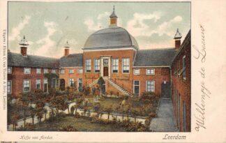 Ansichtkaart Leerdam Hofje van Aerden 1904 HC18253