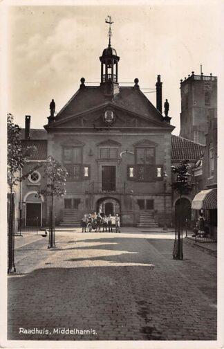 Ansichtkaart Middelharnis Raadhuis 1939 HC18284
