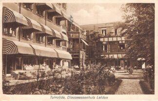 Ansichtkaart Leiden Tuinzijde Diaconessenhuis Ziekenhuis 1935 HC18313