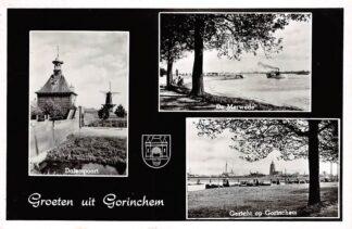 Ansichtkaart Gorinchem Groeten uit 1959 Dalempoort Molen Merwede Gezicht op Gorinchem HC18320