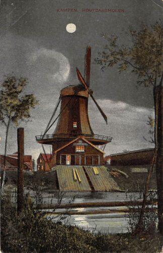 Ansichtkaart Kampen Houtzaagmolen bij nacht Molen HC18321