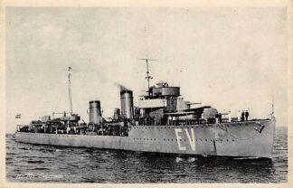Ansichtkaart Den Helder Marine Hr. Ms. Evertsen Oorlogsschip 1935 Schepen Scheepvaart HC18327