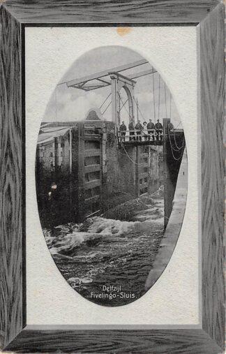 Ansichtkaart Delfzijl Fivelingo - Sluis 1910 Scheepvaart HC18413
