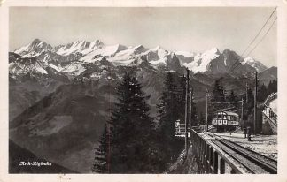 Ansichtkaart Zwitserland Arth - Rigibahn met trein Spoorwegen 1938 Switzerland Schweiz Suisse Europa HC18421