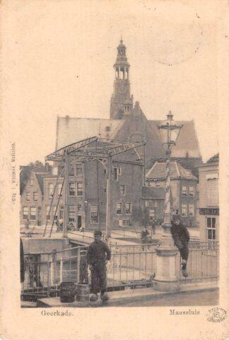 Ansichtkaart Maassluis Geerkade 1901 HC18435