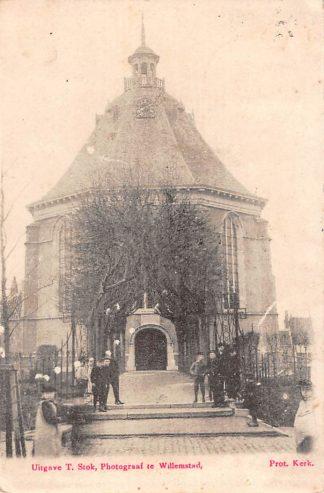 Ansichtkaart Willemstad (NB) Prot. Kerk 1905 HC18457